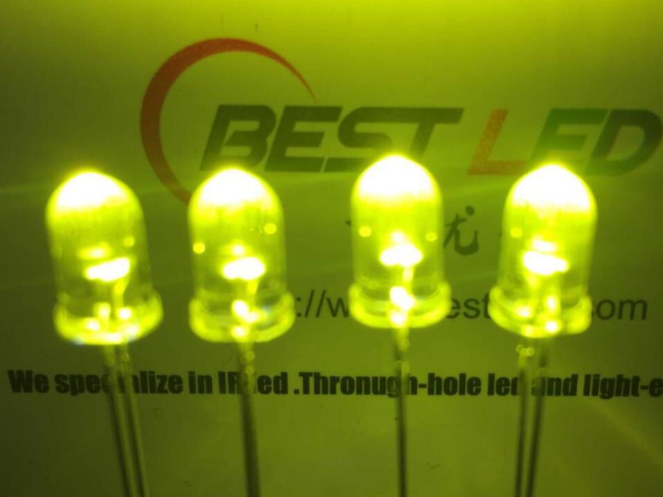 F5mm黄绿570nm灯珠8LM